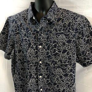 Nordstrom Men's Shop shirt XL Navy Button Down H
